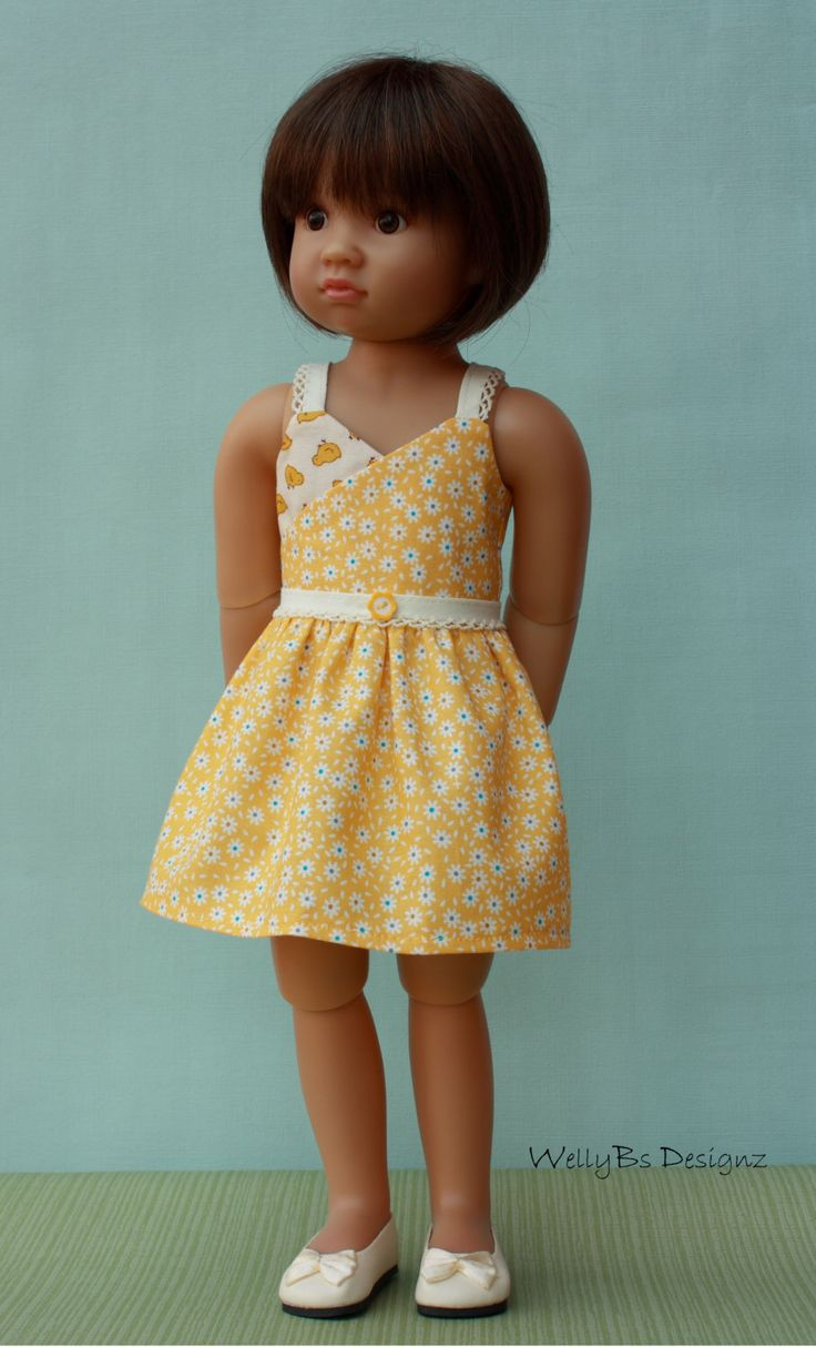 OOAK Lazy Daisy Summer Days Strappy Frock for Kidz 'n' Cats Dolls by WellyBs on Etsy https://www.etsy.com/listing/272856334/ooak-lazy-daisy-summer-days-strappy