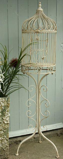 Shabby Chic,Vintage, floor standing birdcage,bird cage/ planter New