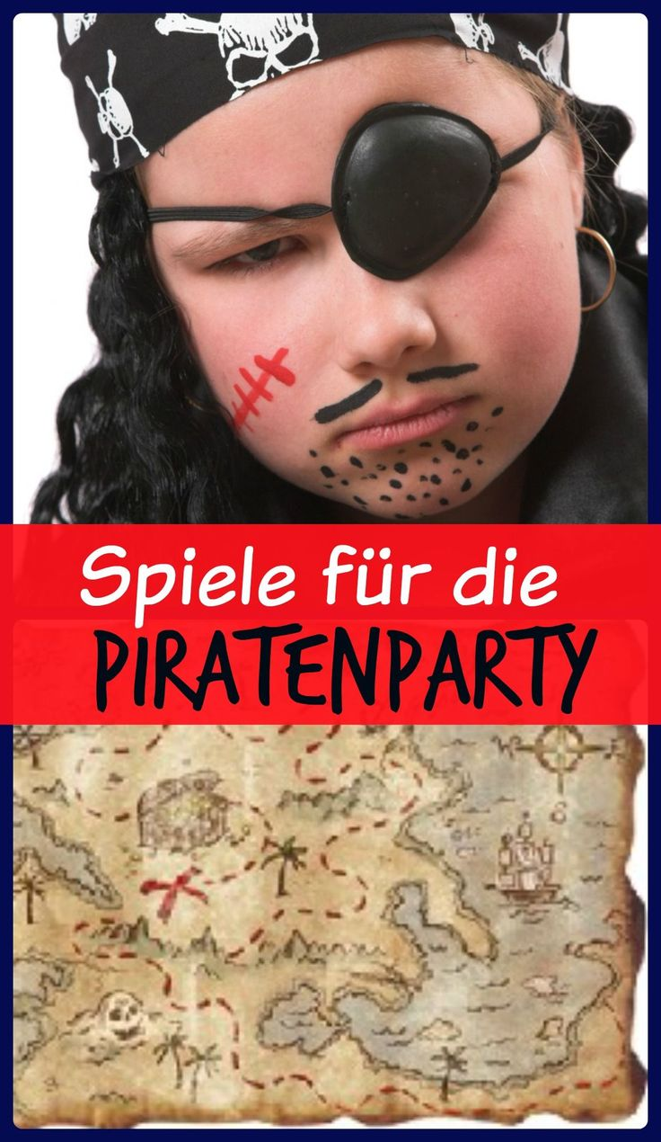 Spielideen zum Kindergeburtstag Pirat von yokki.de