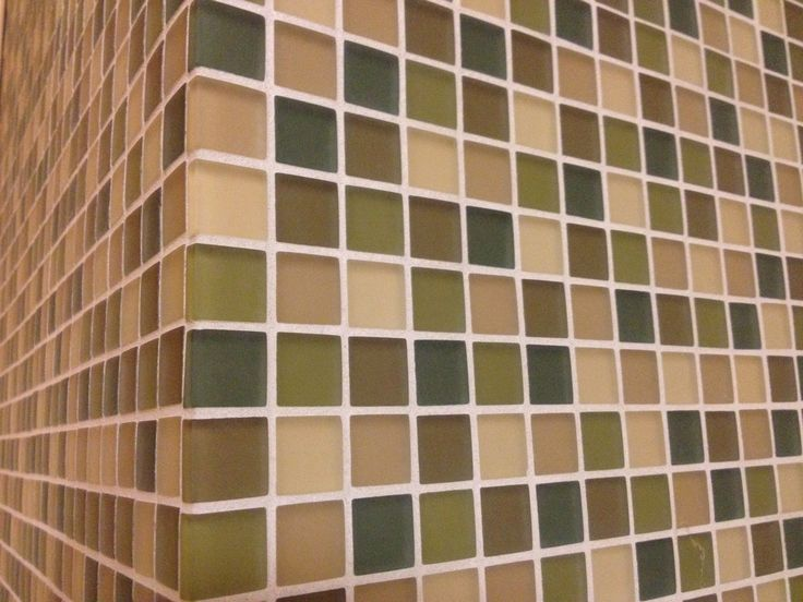 Green And Tan Glass Tile Backsplash Remodel Ideas