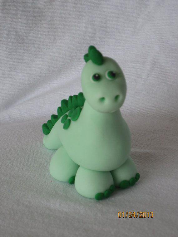Fondant Dinosaur Cake Toppers Set of 3 by AdorableCelebrations