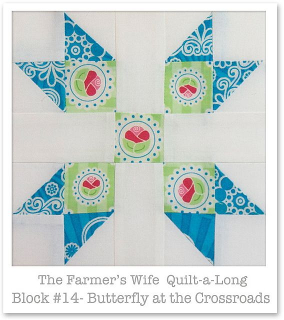 Farmer's Wife Quilt-a-Long - Block 14 by Happy Zombie, via Flickr