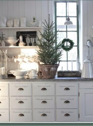 Like the drawer set                                   76 Inspiring Scandinavian Christmas Decorating Ideas | DigsDigs by cinnamon