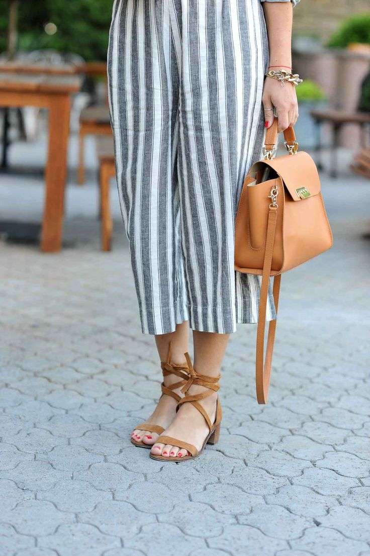 Stripe Culottes // Casual Summer Style