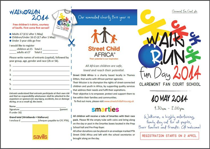 Claremont Fan Court School in Esher raised over £200 for Street Child Africa at their 'Walk o Run' event on 10.05.14