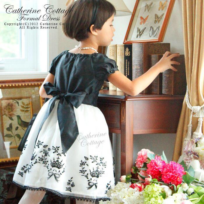 子供ドレス こどもドレス  かわいいです! キャサリンコテージのドレス モノトーンでシックな中にもかわいらしさ満載。  オリジナルの素敵な刺繍。 Girl's dress!!