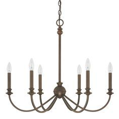 This Alexander collection 6-light chandelier features a burnished bronze finish that will complement many transitional and traditional decors. This Donny Osmond Home design will surely become a conversation piece in your home.