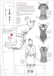 94 best Paper Dolls Coloring Art Print Pages Colouring for