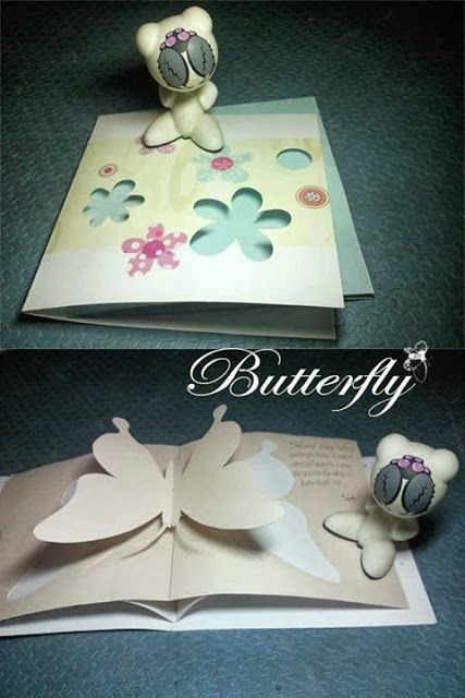 snappopup: Pop up card: buterfly