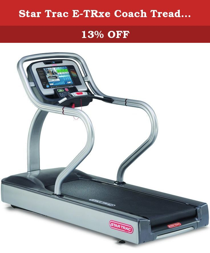 Star Trac E-TRxe Coach Treadmill With HD Embedded Screen. Looking for a great commercial fitness equipment that is simple and smart? Then this Star Trac treadmill is perfect for you! The E-TRxe model features an easily accessible Hot Bar that allows you to access one-finger speed button, elevation controls, stop button, and contact heart rate grips. For maximum shock absorption and ultimate running/jogging comfort, it has been equipped with Soft Trac triple cell cushioning system. The...