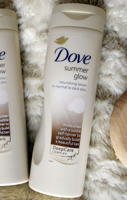 Dove Summer Glow fake tanning lotion - review from Anna Saccone's blog!
