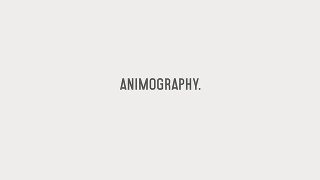 Animography Opening by Animography. This video celebrates the opening of www.Animography.net. It showcases the current and upcoming animated typeface collection.