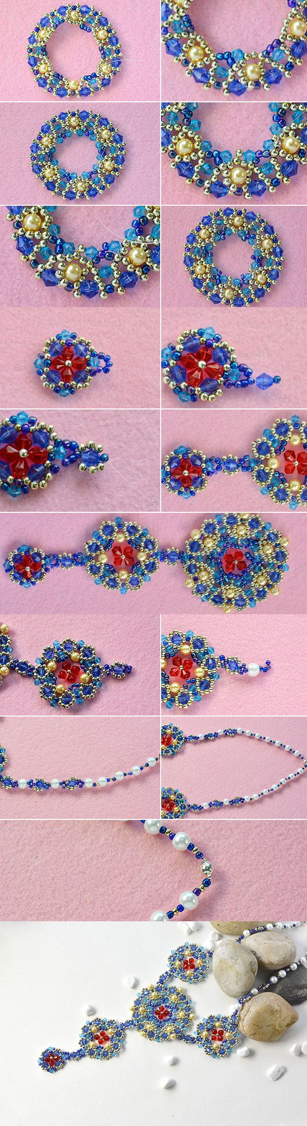 1281 best beading necklaces and pendants tutorials images on beaded pendant necklace wanna it lcndahall will publish the tutorial aloadofball Gallery