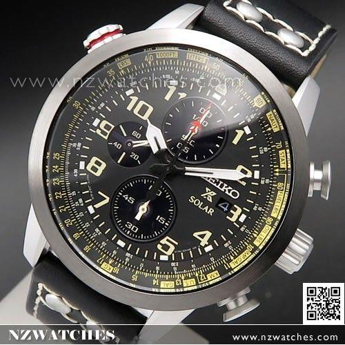 Seiko Prospex Solar Chronograph Calfskin Strap Mens Watch SSC423P1, SSC423