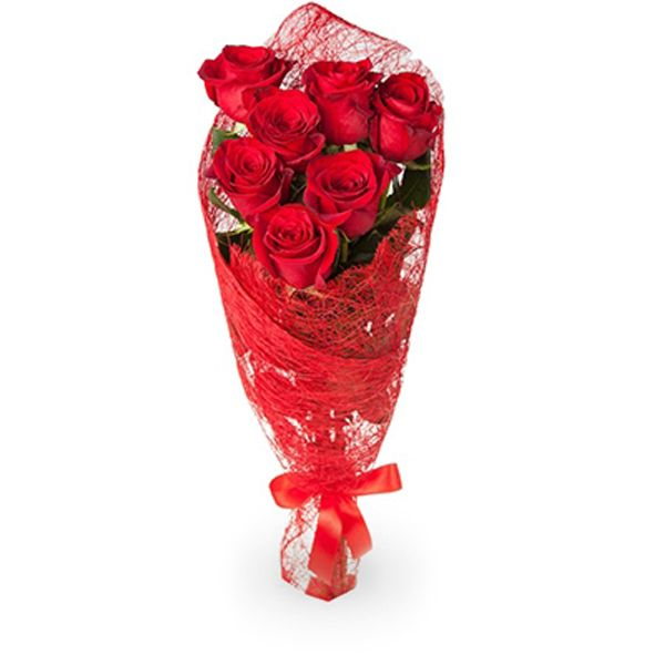 Букет из 3 5 роз в сетке, будет стоить букет