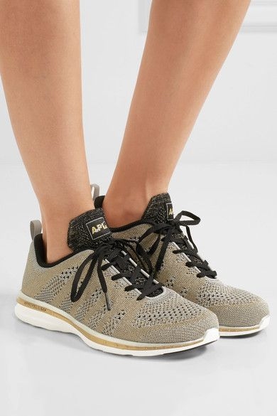 Sole measures approximately 20mm/ 1 inch Gold and silver mesh Lace-up front