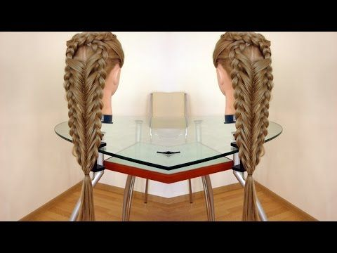 Коса Х. Рыбий хвост в технике трёх кос. Видео-урок. - YouTube