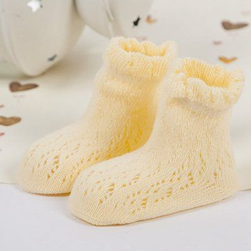 Baby Cotton Cute Socks Boys Girls Skidproof Summer Hollow Out Breathable Kids Ankle socks at Banggood