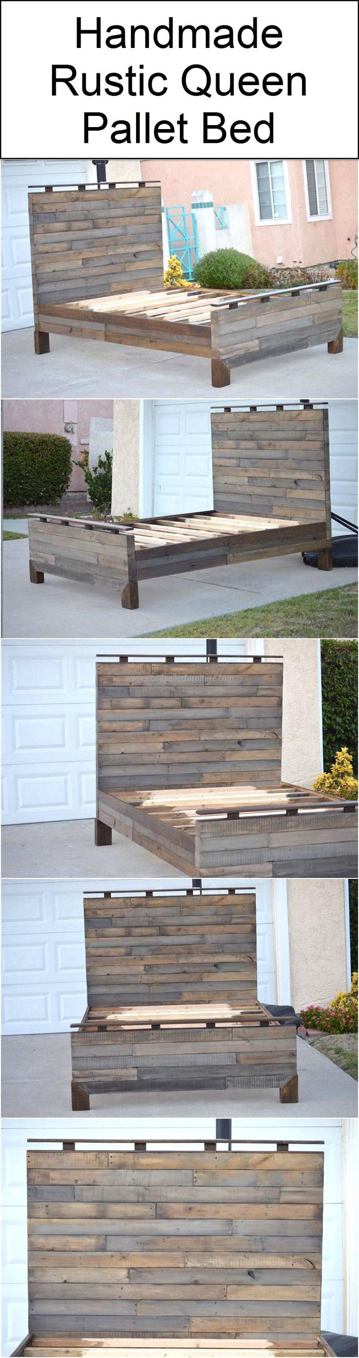 best 25+ pallet platform bed ideas on pinterest | diy bed frame