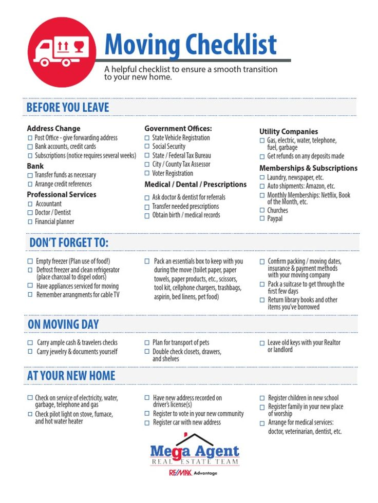 Moving Checklist Template - Eliolera - moving checklist template