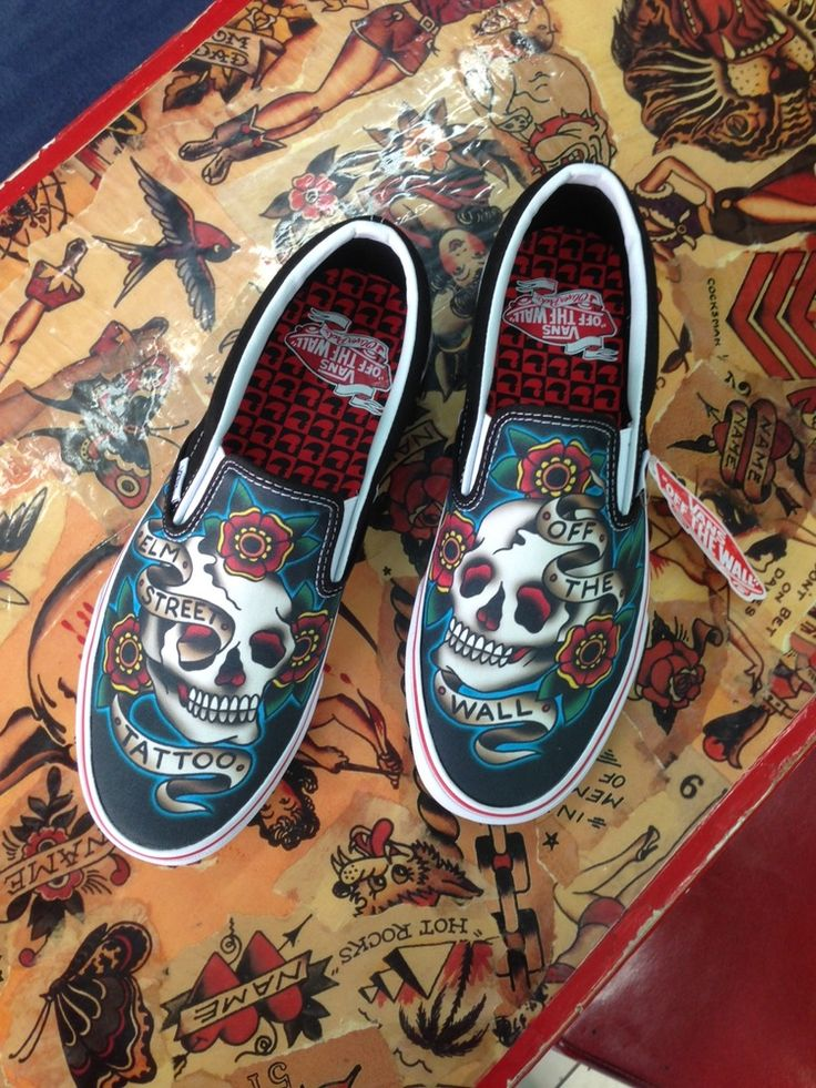 Elm Street Tattoo Vans by Oliver Peck – Anchor ScreenPrinting