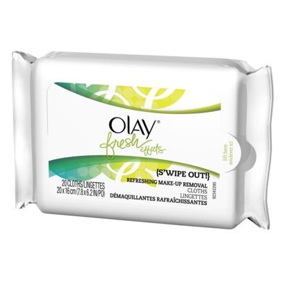 Olay Fresh Effects Cleansing Wipes ~ cool form factor and tab opening