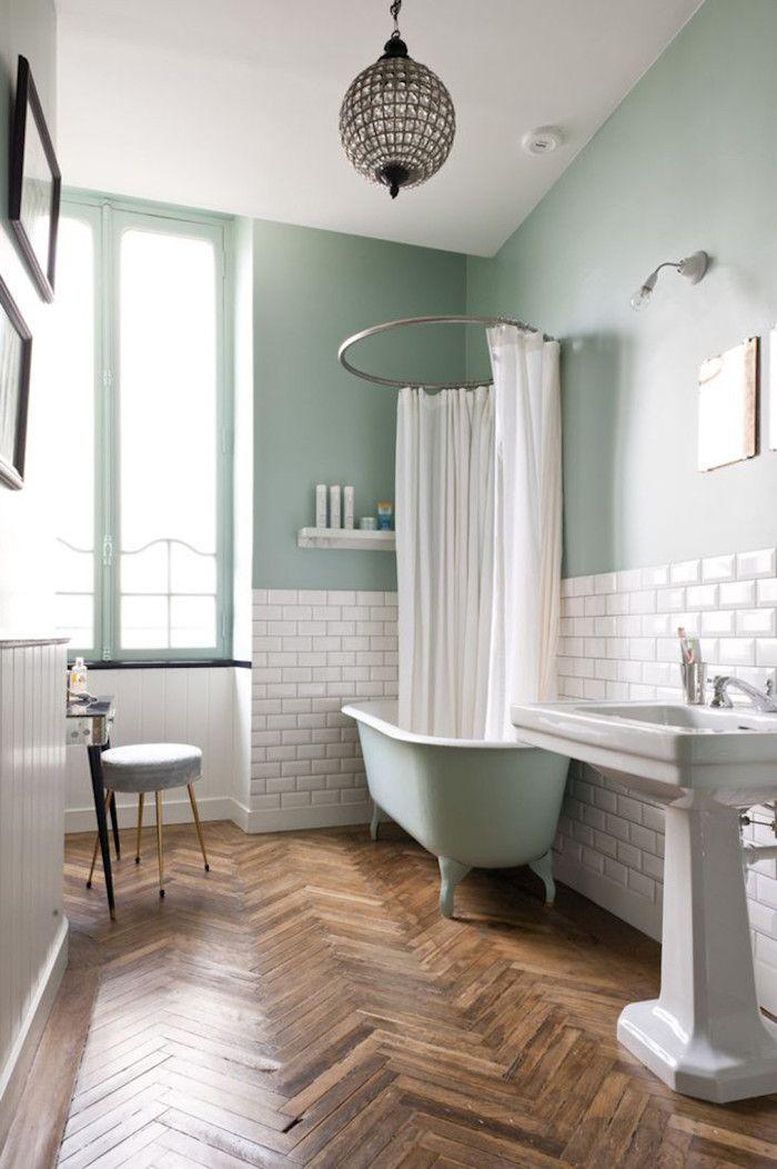 kleider mintgrünes badezimmer weiß-grün schöne ideen für das ...