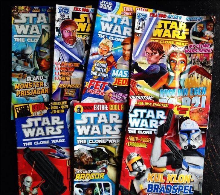 STAR WARS The Clone Wars serietidningar magazine 7 nr på Tradera.com -