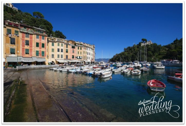The Castle from the famous Piazzetta in Portofino Email our Portofino wedding planners for info: info@italianweddingplanners.com