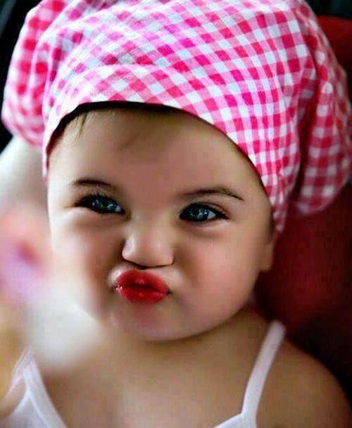Cute Little Baby Girl Pouting Cute Babies Pinterest