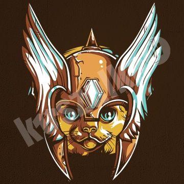 Koszulka.tv - Śmieszne koszulki z nadrukiem » Cat warrior