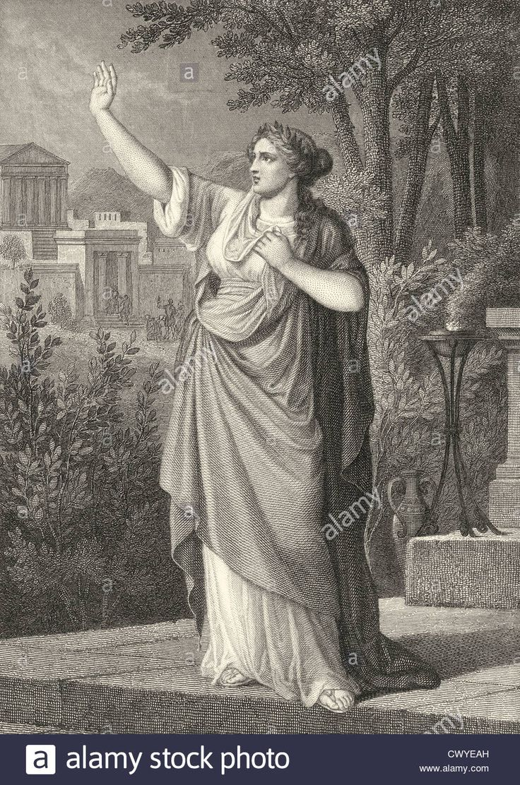 Download this stock image: Greek mythology, Cassandra, a ballad by Johann Christoph Friedrich von Schiller, - CWYEAH from Alamy's library of millions of high resolution stock photos, illustrations and vectors.