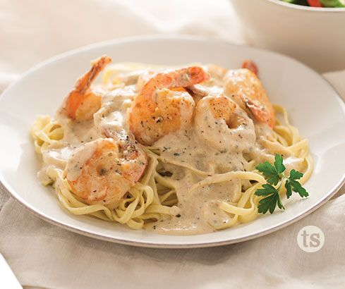 This delicious, creamy shrimp scampi can be prepared in under 30 minutes!