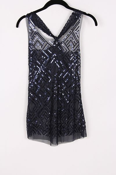 Sequined Luster Top in Navy » Pretty going out top!