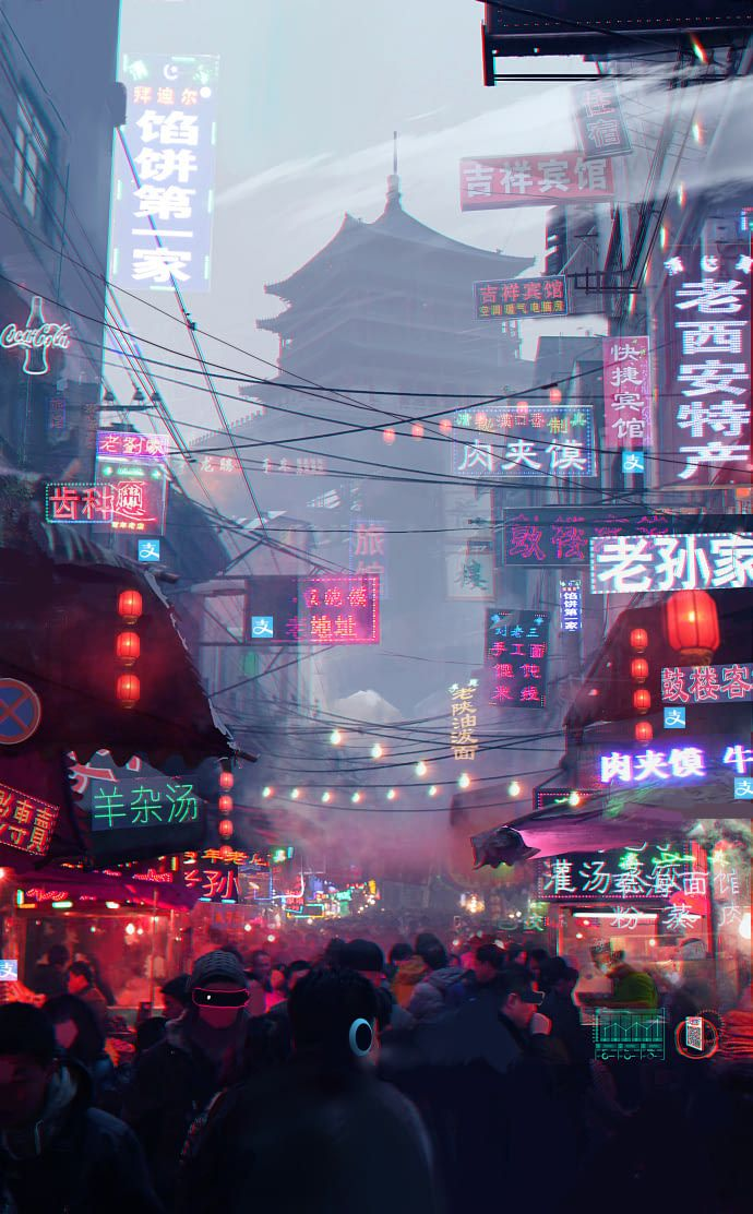 2nd Tier Cities In China Are The Most Cyberpunk Places On Earth Aesthetic Wallpapers City Wallpaper Aesthetic Art
