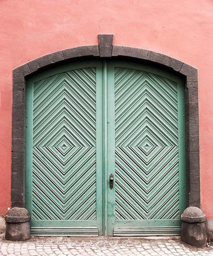 a door | fresh hues brushstrokes