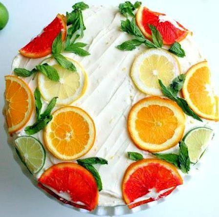 Citrus Cake with Lemon Curd Filling