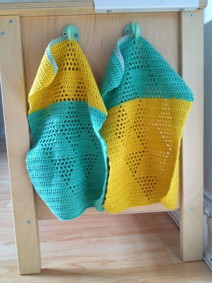 Garnkusserne   Lækre hækleopskrifter / DIY til dig, hjemmet og baby  : Køkkenudstyr i børnehøjde