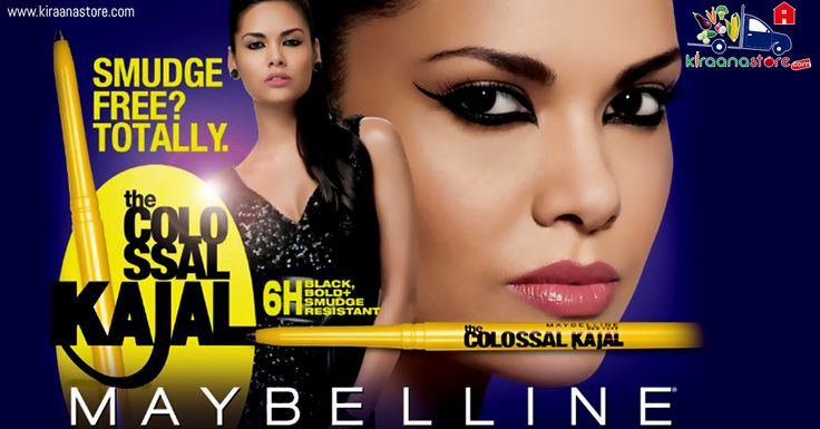 #Maybelline #Colossal #Kajal #Black Online in India at best quality from Kiraanastore.com. Best #Make-Up Store in Noida with Free Shipping & Pay on Delivery.