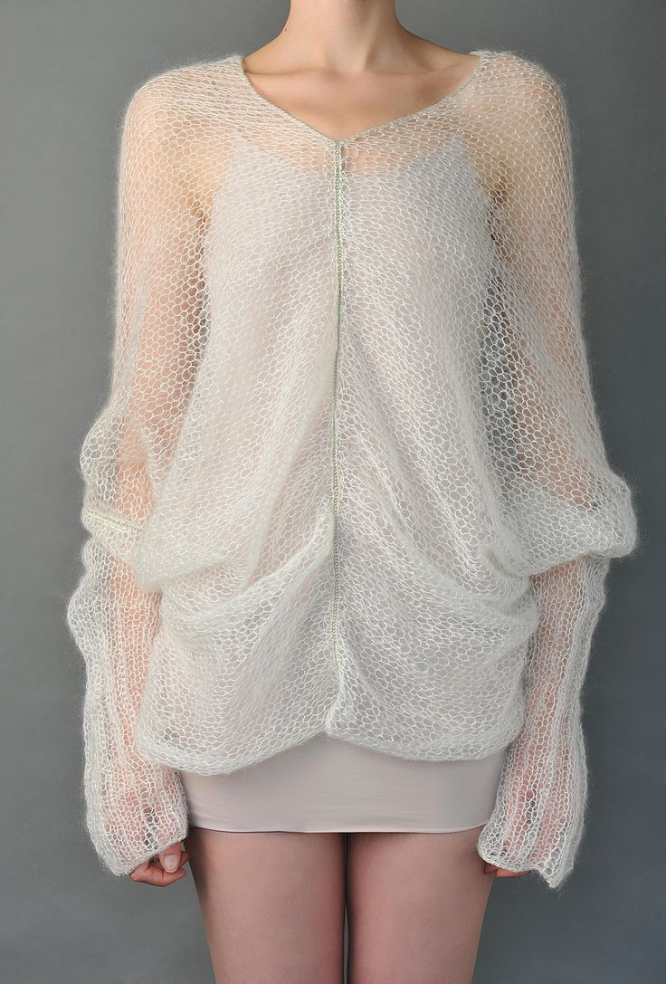 White Poncho Sweater   Shades.Of.True   Shop   NOT JUST A LABEL