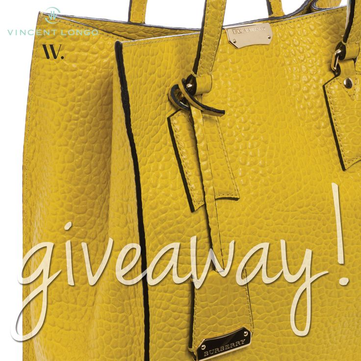Enter to win an embossed leather fall Burberry tote filled with luxury Vincent Longo Cosmetics! Ends 8/20/14.