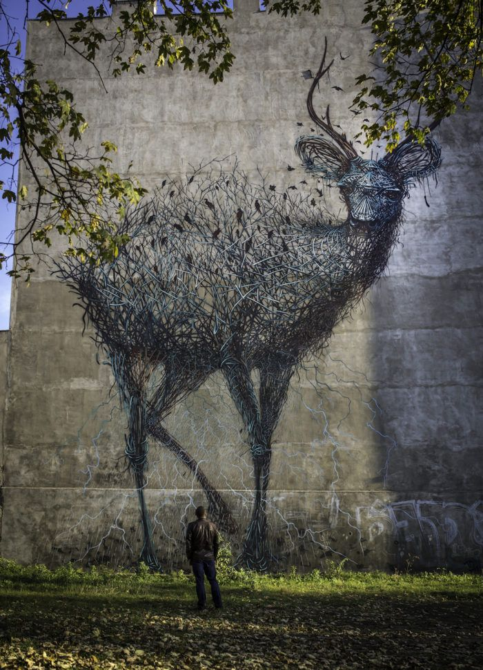 Street Art Utopia » We declare the world as our canvas » By DALeast in Lodz – For Galeria Urban  ...