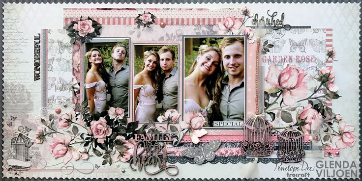 Family is a work of Heart layout by Glenda Viljoen created with the Penelope Dee Mother of Pearl Collection.