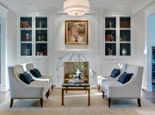 15 Inspiring Bookcases With Glass Doors For Your Home Small Living Rooms Traditional