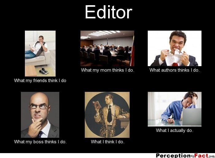 Editor, meme What My Friends Think I Do