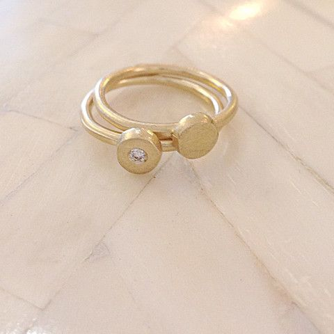 Monsoon Sirocco Rings 9ct with White Diamond (Set of 2)