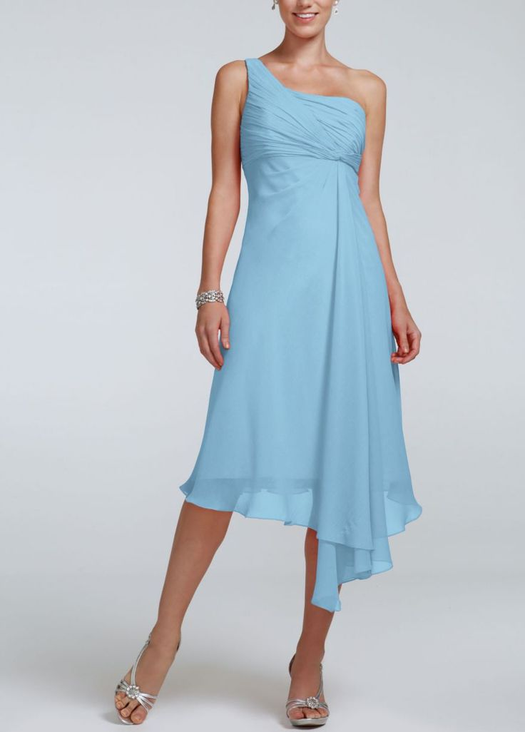 New cool wedding dresses: Bridesmaid dresses in color capri