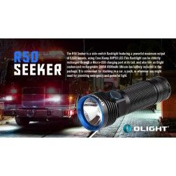 Olight R50 Seeker USB Rechargeable LED Flashlight - 2500 Lumens