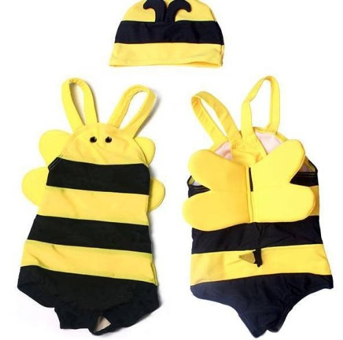 "$17.75-$30.08 Baby Boys' swimsuit for sale. Kids will be very cute when wearing our lovely swimsuits! This bee swimwear is also great for kid costume.Material: 80% nylon, 20% lycra spandexWashing Methods: Hand wash, cold hang dry. Do not use bleach.ATTN: Return is NOT allowed for swim suits.Please read the measurement information carefully.Size 2 ---- Length (from shoulder to hem): 16""; Bust: 8. ..."