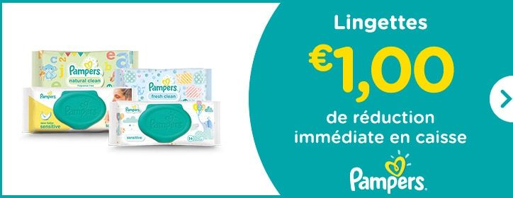 Lingettes - € 1,00 de réduction immédiate en caisse - Pampers